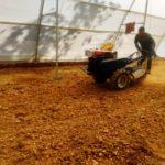 Farm machinery at work